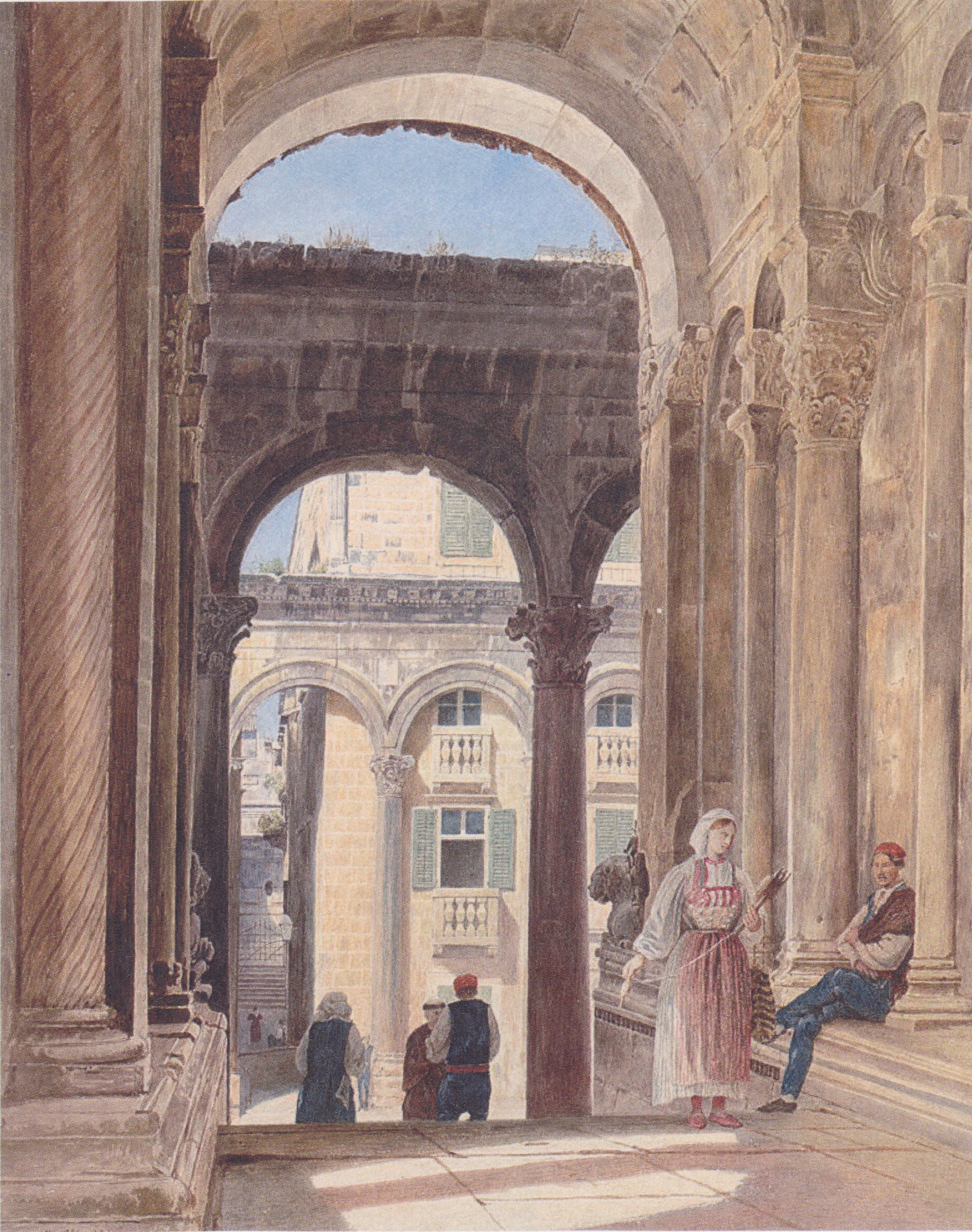 Ruins of Diocletian at Spalato, 1841