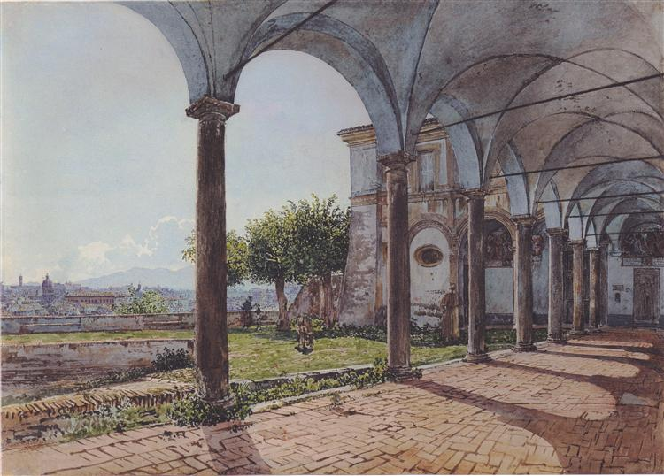 View from the Monastery of Sant 'Onofrio in Rome, 1835 - Rudolf von Alt