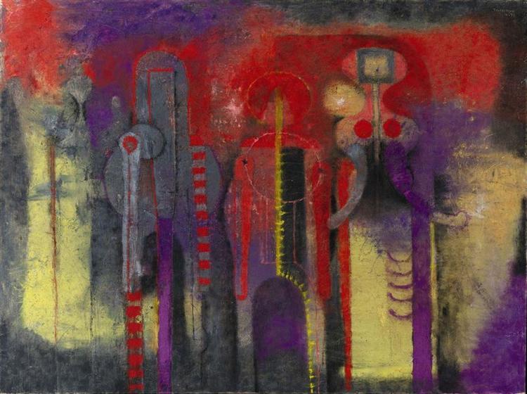 Three People, 1970 - Rufino Tamayo