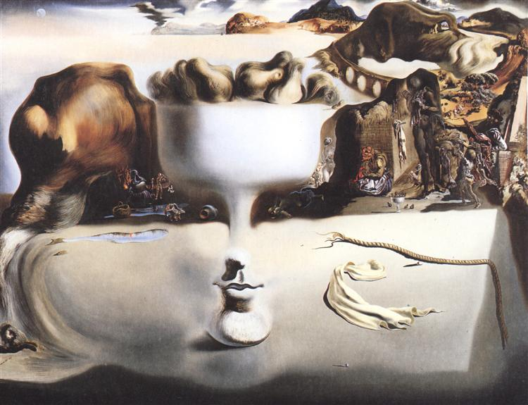 Apparition of Face and Fruit Dish on a Beach, 1938 - Salvador Dali