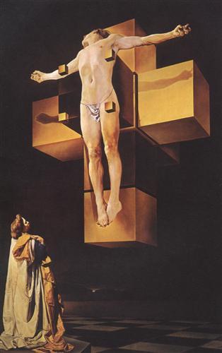 Crucifixion (Corpus Hypercubicus) - Salvador Dali