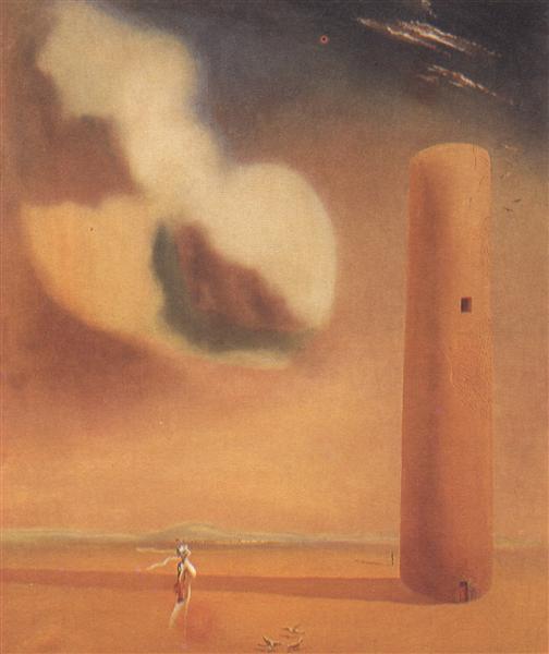 Enigmatic Elements in the Landscape, 1934 - Salvador Dali