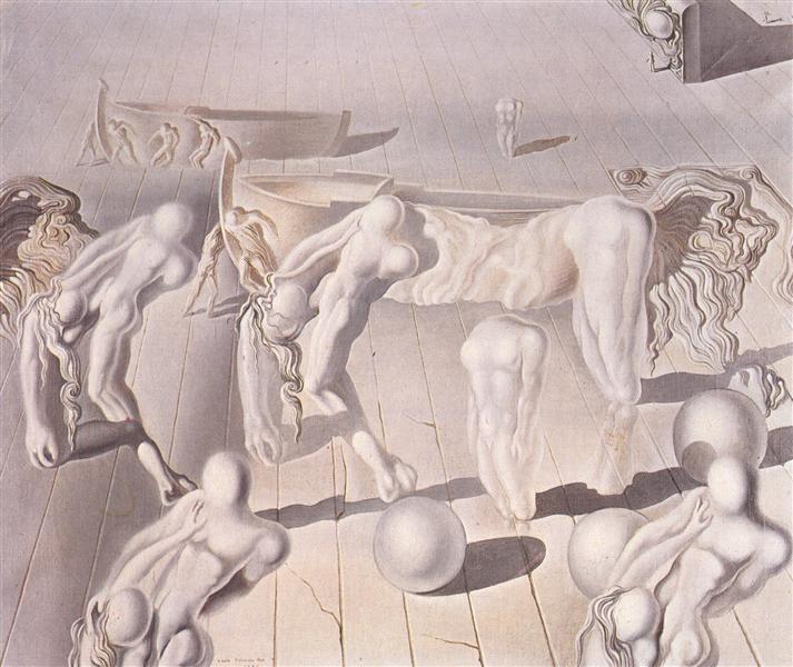 Invisible  Sleeping Woman, Horse, Lion, 1930 - Salvador Dali