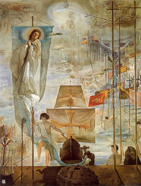 The Discovery of America by Christopher Columbus, 1958 - 1959 - Salvador Dali