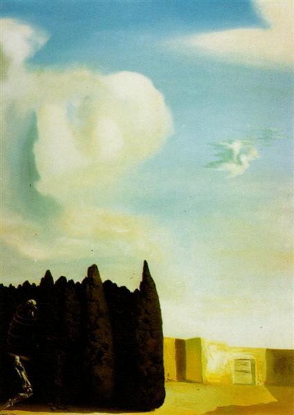 The Isle of the Dead - Centre, Section, 1934 - Salvador Dali
