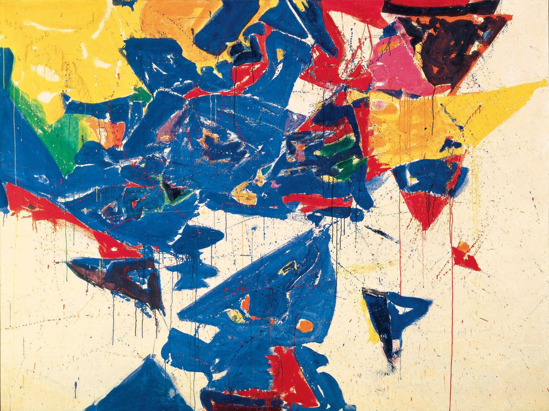 Middle Blue Iii 1959 Sam Francis Wikiart Org