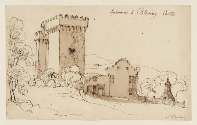 Entrance to Blarney Castle - Samuel Palmer