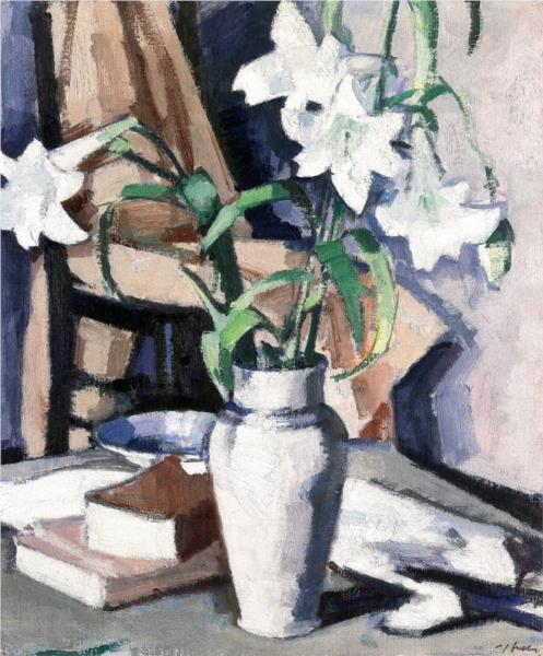 White Lilies, 1923 - Samuel Peploe