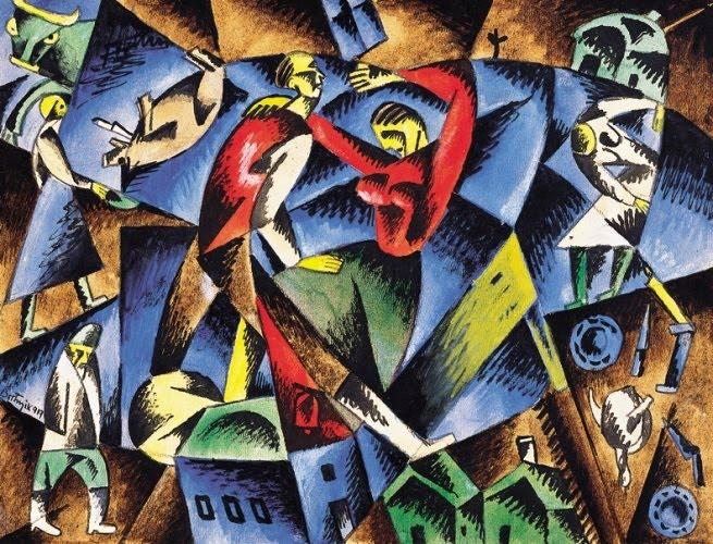 Blue-Red Composition, 1919 - Sandor Bortnyik