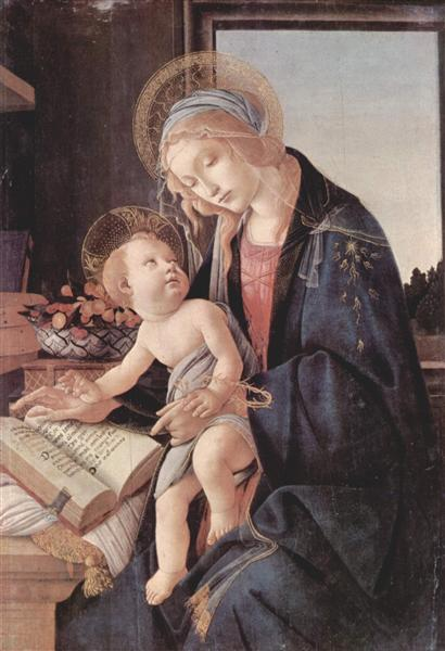 Madonna of the Book, c.1479 - Sandro Botticelli - WikiArt.org