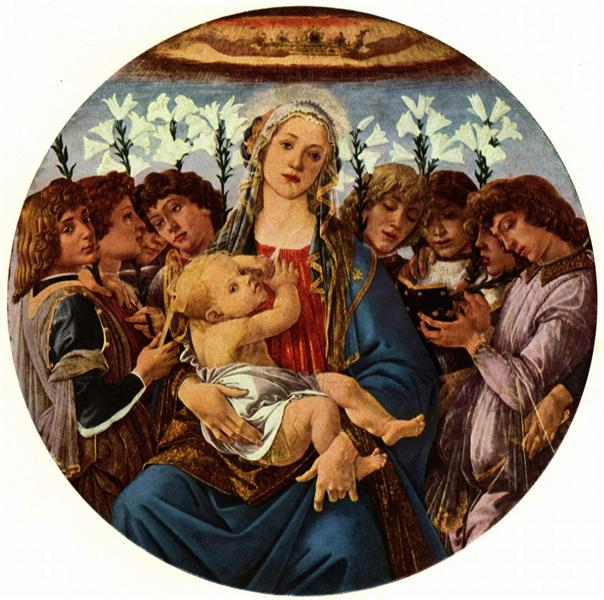 Madonna with Child and Singing Angels, c.1477 - Sandro Botticelli