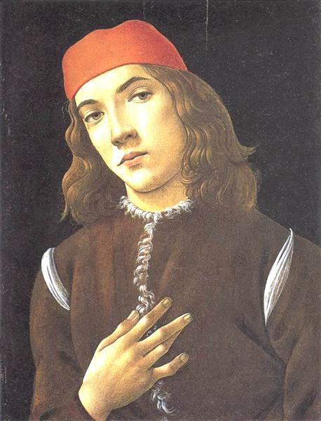 Portrait of a Young Man, 1482 - 1483 - Sandro Botticelli
