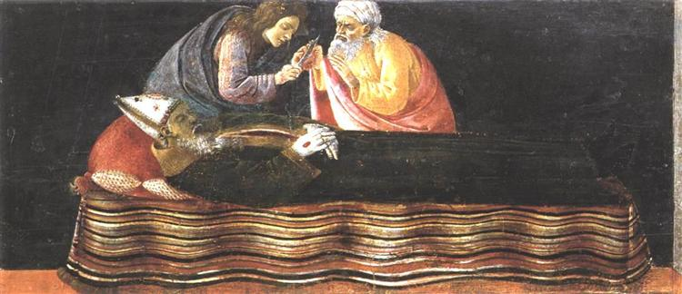 The Extraction of the Heart of St. Ignatius from the Altarpiece of St. Barnabas, 1488 - Sandro Botticelli