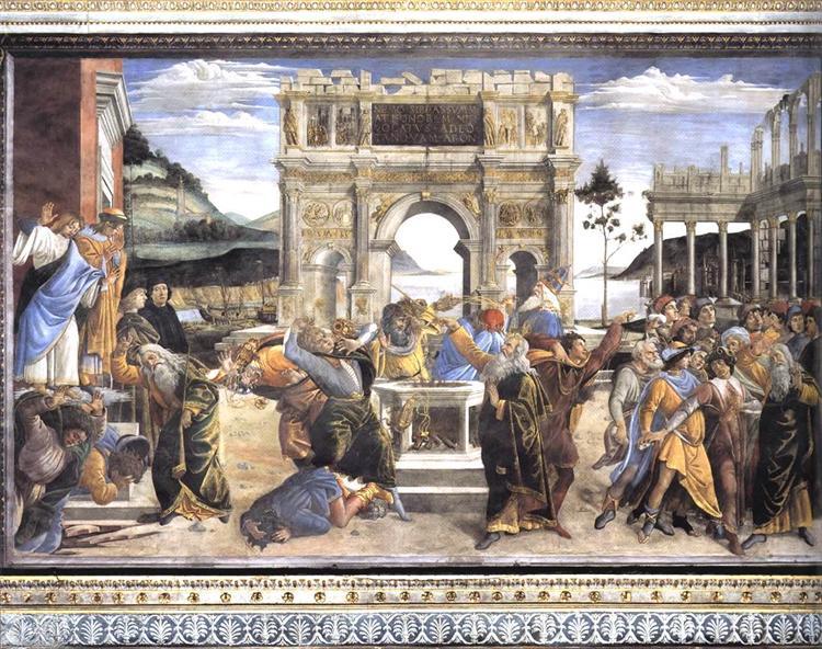 The Punishment of Korah, Dathan and Abiram, 1481 - Sandro Botticelli