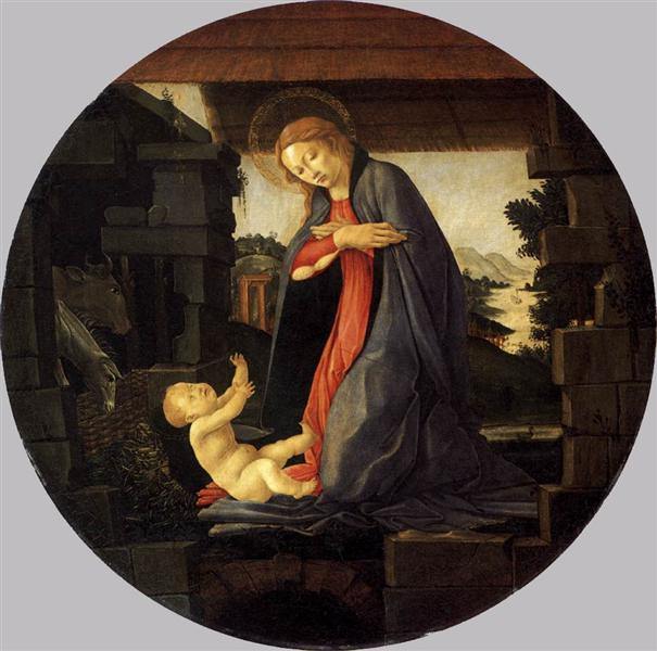 The Virgin Adoring the Child, c.1490 - Sandro Botticelli
