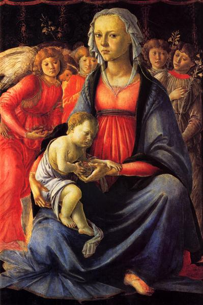The Virgin and Child surrounded by Five Angels, c.1470 - Sandro Botticelli