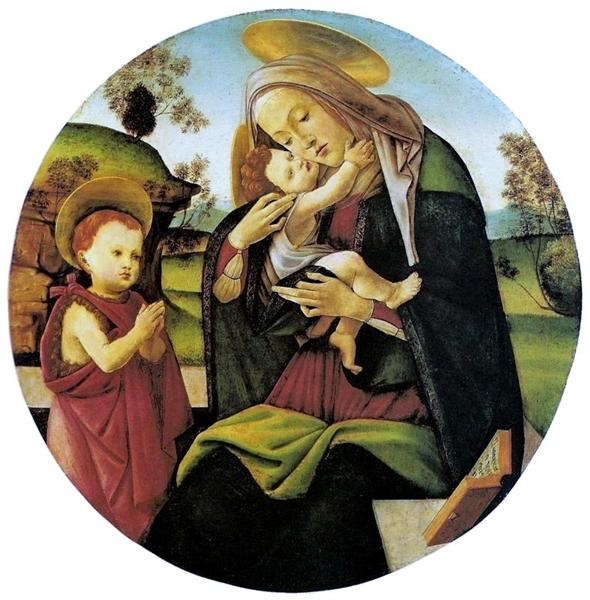 Virgin and Child with the Infant St. John the Baptistbetween, 1490 - 1500 - Sandro Botticelli