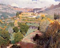 El Valle de Los Naranjos - Santiago Rusiñol