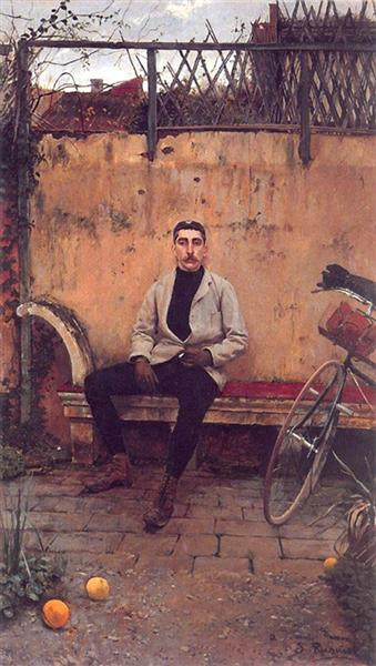 Portrait of Ramon Casas - Сантьяго Русіньйоль
