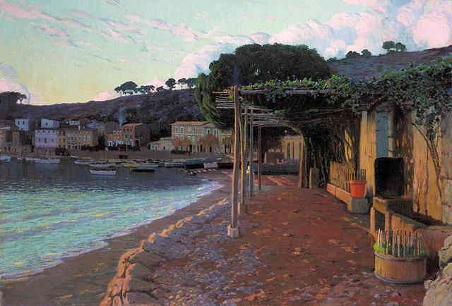 Sóller on the north coast of Mallorca, 1905 - Santiago Rusinol