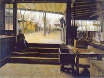 The kitchens, Moulin de la Galette - Santiago Rusiñol