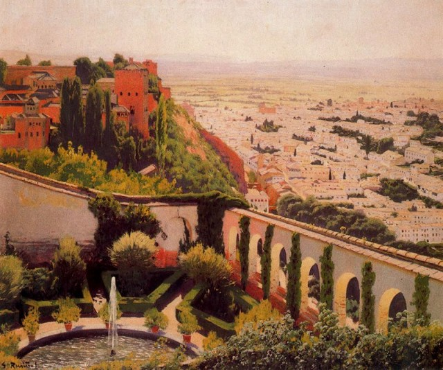 View of Granada - Santiago Rusinol