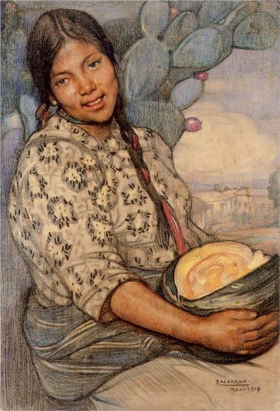 Mujer con calabaza, 1917 - Saturnino Herrán Guinchard