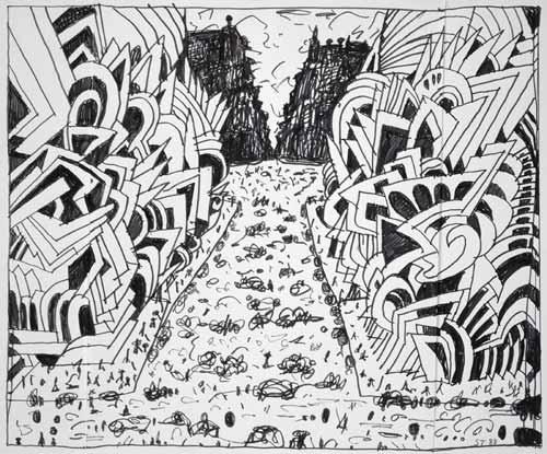 Canal Street, 1988 - Saul Steinberg
