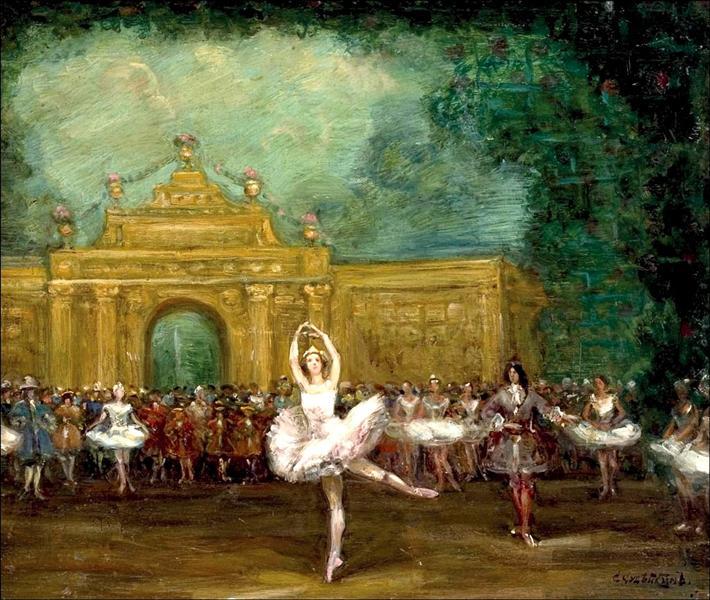 "Russian ballet (Pavlova and Nijinsky in ""Pavillon d'Armide""), 1907 - Сергей Судейкин"