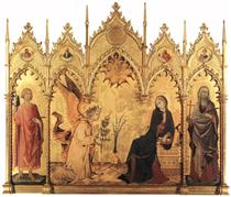 The Annunciation with St. Margaret and St. Ansanus - Simone Martini