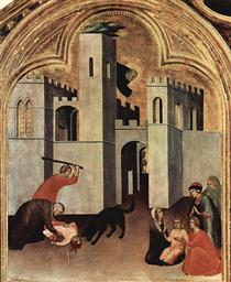 The Miracle of the Child Attacked and Rescued by Augustine Novello - Simone Martini