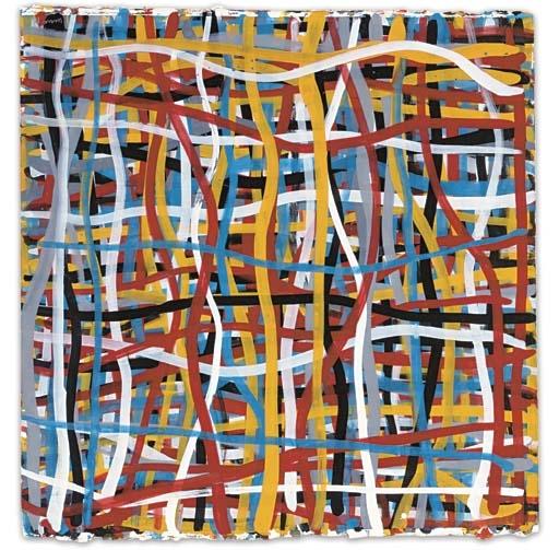 Irregular Vertical and Horizontal Bands of Color Superimposed, 1993 - Sol LeWitt