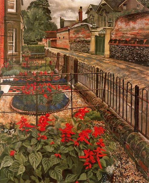 Gardens In The Pound, Cookham, 1936 - Stanley Spencer