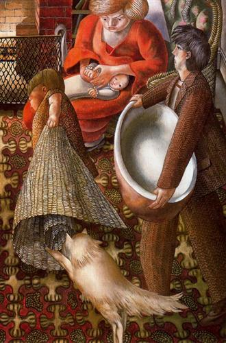 Hilda and I at Burghclere - Stanley Spencer
