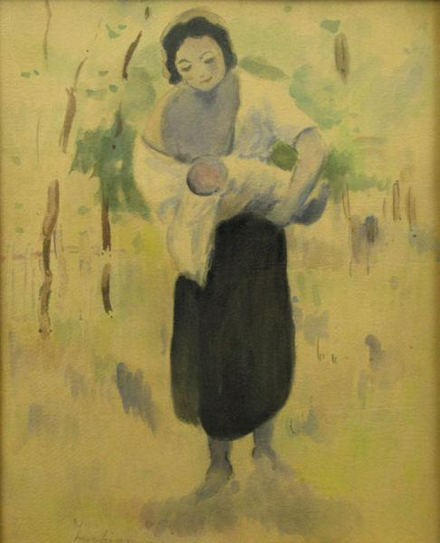 Mother with baby - Stefan Luchian