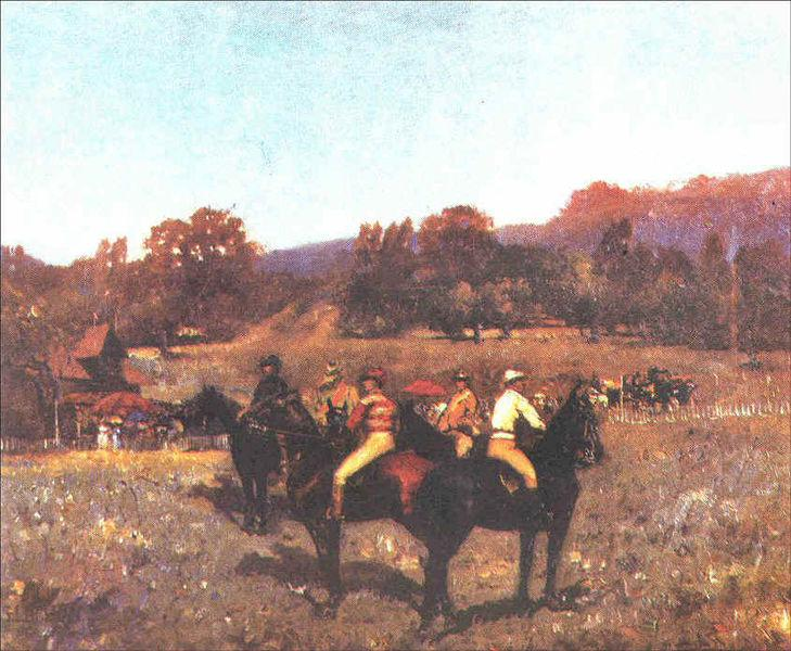 The Last Autumn Race, 1892 - Stefan Luchian