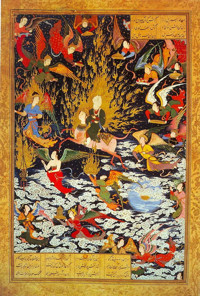 https://uploads2.wikiart.org/images/sultan-muhammad/the-ascent-of-muhammad-to-heaven-mi-r-j-khamseh-1543.jpg