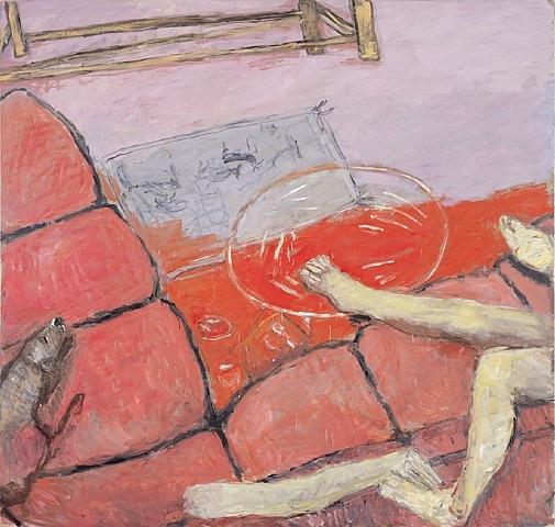 Pink Couch, 2003 - Сьюзен Ротенберг
