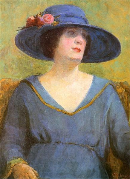 Blue Hat, 1922 - Тарсіла ду Амарал