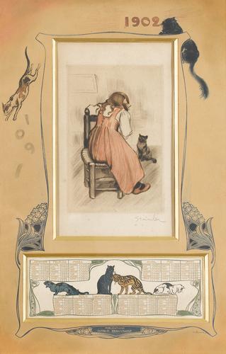calendar, 1902 - Théophile-Alexandre Steinlen