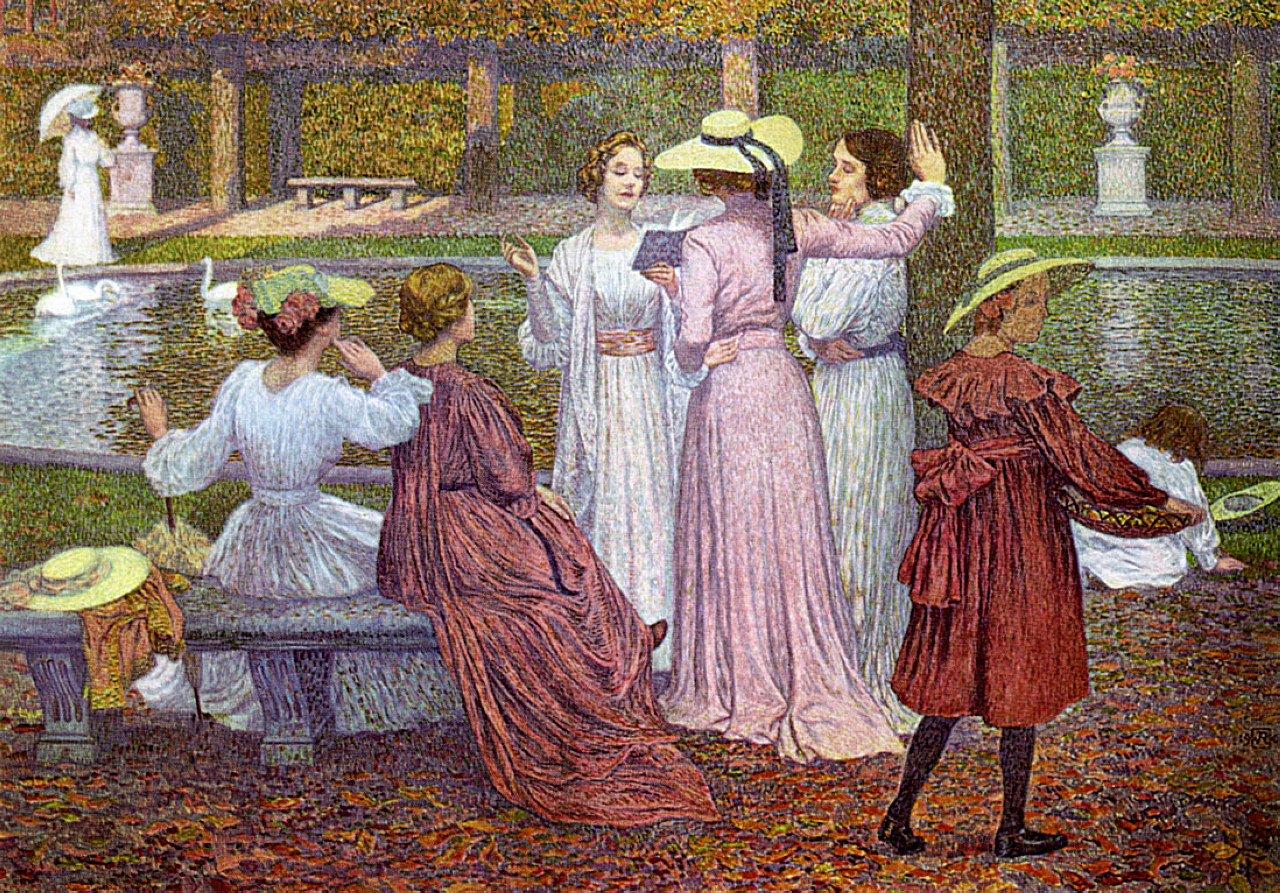 A Reading In The Garden 1902 Theo Van Rysselberghe