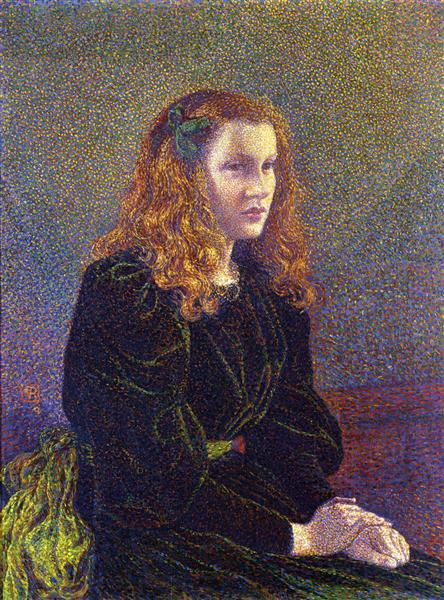 Girl in Green - Theo van Rysselberghe