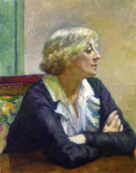Maria Van Rysselberghe with Crossed Arms, 1913 - Theo van Rysselberghe