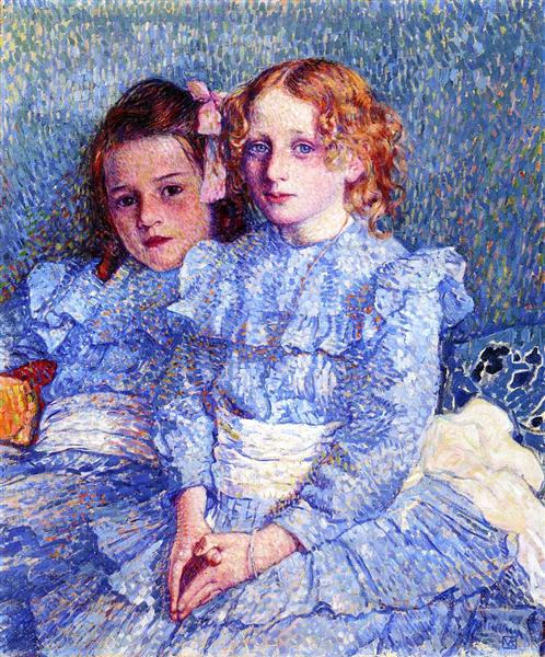 Portrait of Helene and Michette Guinotte, 1901 - Theo van Rysselberghe