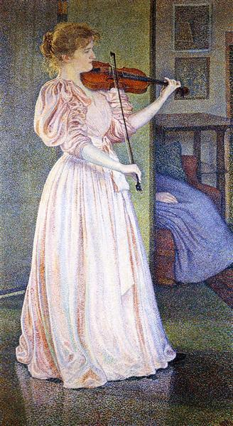 Portrait of Irma Sethe, 1894 - Théo van Rysselberghe