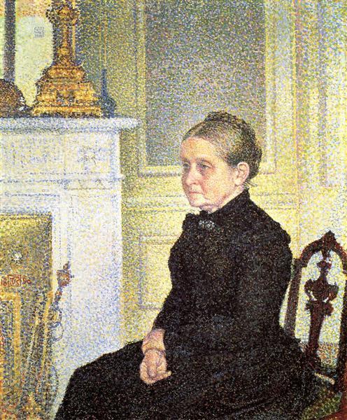 Portrait of Madame Charles Maus, 1890 - Théo van Rysselberghe