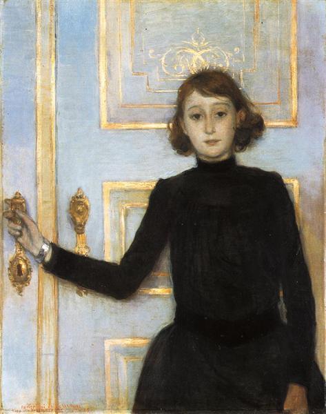 Portrait of Marguerite van Mons, 1886 - Theo van Rysselberghe