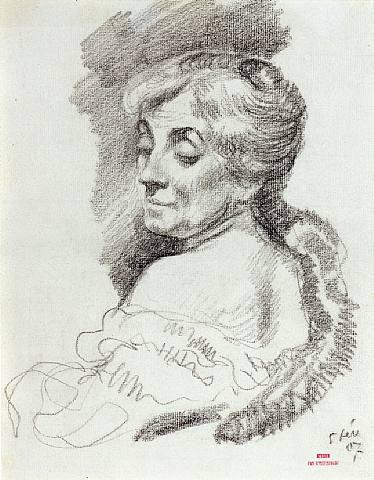 Portrait of Mme Van Rysselberghe, 1907 - Theo van Rysselberghe