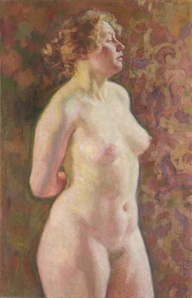 Standing Nude, 1919 - Theo van Rysselberghe