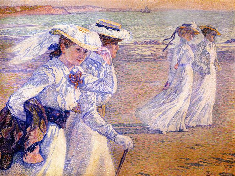 The Promenade, 1901 - Theo van Rysselberghe